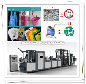 Zip Non Woven Bag Making Machine pictures & photos