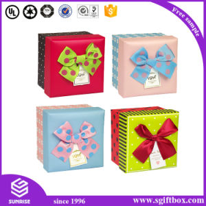 Wholesale Custom Paper Packaging Ribbon Paper Gift Box pictures & photos