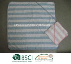 Yarn Dyed Stripe Velour Hooded Towel