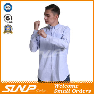 Fashion Mens Cotton Workwear Shirt with Long Sleeve