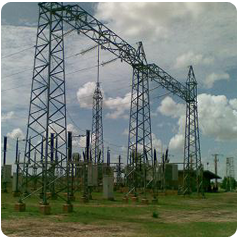 Angular and Tubular Substation Structure for Electric Power Transmission Line pictures & photos
