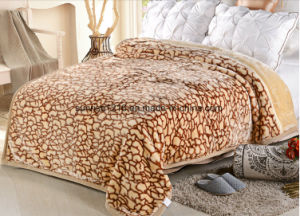 Hot Sale 100% Polyester Raschel Blanket Sr-B170211-2 Soft Printed Mink Blanket pictures & photos