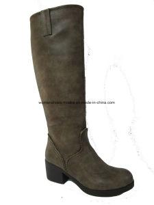 Comfort Women fashion Low Heel Overknee Leisure Boots pictures & photos