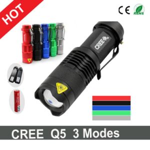 Hot Sale Mini Style CREE XPE LED Torch+Charger+1X14500 Battery pictures & photos