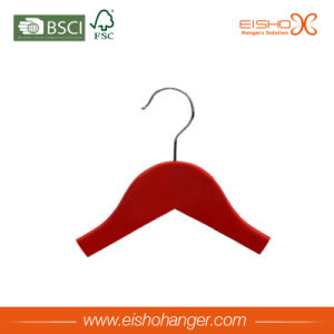Red Color Wholesale Wooden Hangers for Clothes pictures & photos