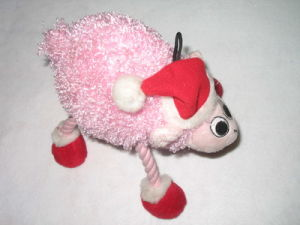 Santa Rope Squeaky Chew Bite Plush Dog Toy pictures & photos