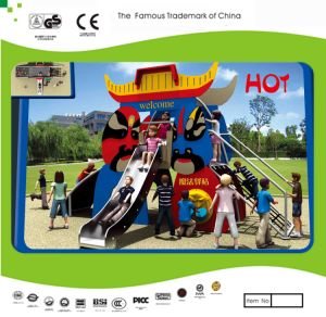 Kaiqi Small Sized Cartoon Themed Children′s Playground Slide Set (KQ21048A) pictures & photos