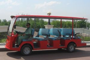 CE Approved 14 Seater Electric Sightseeing Bus Made by Dongfeng for Sale pictures & photos