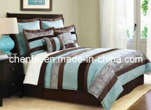 Embroidery 7PCS King Size Comforter Set Luxury Bedding