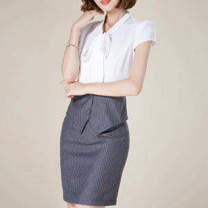 Custom Formal Ladies Office Wear Latest Shirt Designs for Women pictures & photos