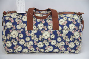 Fashion Colorful Printing Canvas Lady Travel Duffel Bags pictures & photos