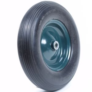 High Quality PU Wheel with Axle and Plastic Caps pictures & photos