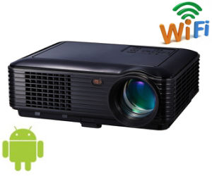 4.4android WiFi 3000lm HDMI, USB, TV Home Theater Projector pictures & photos