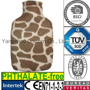 CE Fleece Giraffe Animal Fur Hot Water Bottle Cover