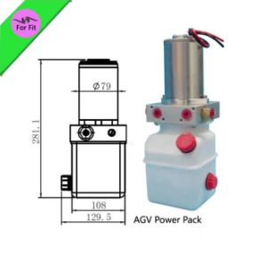 5-10 Tons 12V 1.2L Agv Auto Guide Vehicle Mini Hydraulic Power Pack