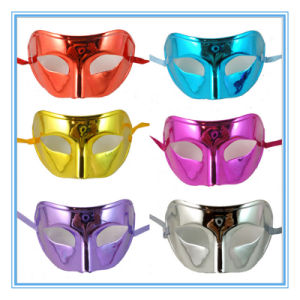 Halloween Costume Party Half Face Gold-Plated Mask pictures & photos