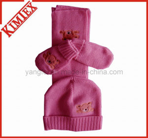 Wholesales Unisex Fashion Acrylic Warm Knitted Set pictures & photos