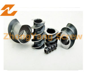Twin Parallel Screw Elements for PVC Granule Pelletizing Profile pictures & photos