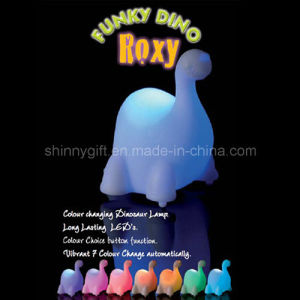 PVC Funny Dinosaur Toy LED Night Light for Kids