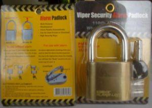 Kinbar Brand K105c Alarm Padlock