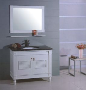 Marble Top Wooden Bathroom Furniture (B-314) pictures & photos