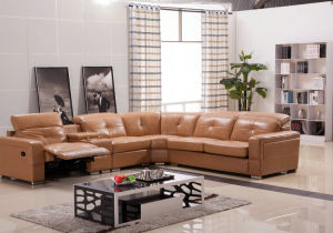 High Quality Leather Recliner Sofa with Corner (975) pictures & photos
