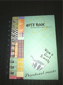Double Spiral Hard Cover Notebook / 4 Color Printed Cover Notebook pictures & photos