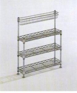 china 4 tiers metal chrome mini kitchen shelving rack. Black Bedroom Furniture Sets. Home Design Ideas