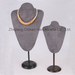 New Design Suede Necklace Display (LJ-009) pictures & photos