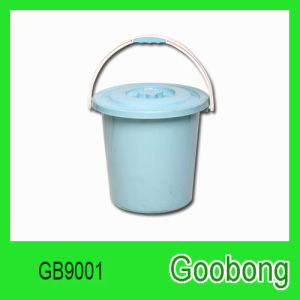 16L Round Plastic Bucket with Lid