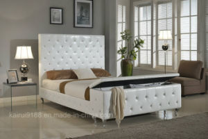 Modern Bedroom PVC Pupular White Storage Home Hotel Furniture pictures & photos