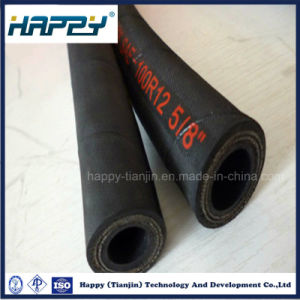 Oil Resistant High Pressure Hydraulic Rubber Hose with Fittings pictures & photos