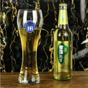 Man Blow Beer Glass High Height pictures & photos