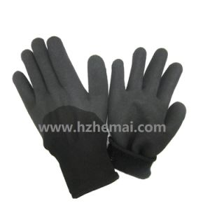 Insulated Gloves Soft Sandy Nitrile Coated Winter Work Glove pictures & photos