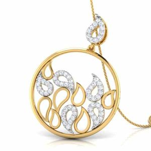 14k Gold Over Silver Water Drops Cubic Zircon Pendants pictures & photos