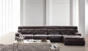 Modern Living Room Furniture Top Leather Sofa Set (SO03)