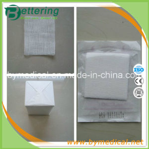 Absorbent Medical Cotton Gauze Swab pictures & photos