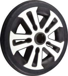 Black PU Foamed Stroller Wheel pictures & photos