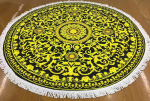 Microfiber Round Beach Towels with Disperse Printing pictures & photos