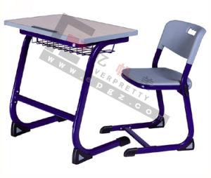 Knock Dowan Single Student Desk and Chair for Primary and High School pictures & photos