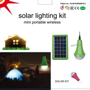 2017 New Solar LED Rechargeable Lamp 3W Solar Kit for Home Camping Light Sre-99g-1 pictures & photos