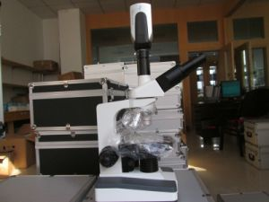 Biological Video Microscope with CCD Camera Veterinary Hospital Microscope