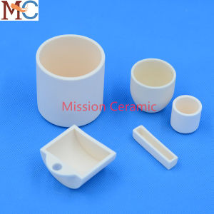 High Temperature Resistant ISO Pressing Alumina Ceramic Crucible and Boat pictures & photos