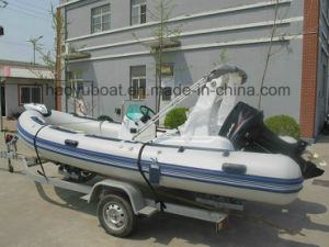 Rescue Boat, Outboard Motor Boat, Rib Boat, 5.2m Inflatable Boat pictures & photos