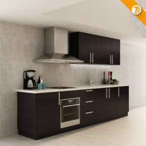 China Fast Delivery Black Melamine Small Kitchen Cabinet Op14 K008 China Kitchen Cabinet