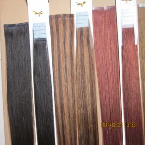 Factory Price Double Drawn 100% European Hair Tape Hair Extension pictures & photos