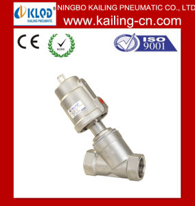 High Quality Pneumatic Control Angle Seat Valve pictures & photos