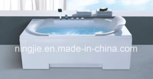 Hot European Style Economical Acrylic White Sexy Hmassage Bathtub Nj-3054 pictures & photos