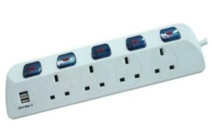 UK Extension Strip with USB, UK Power Strip with USB pictures & photos
