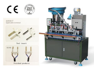 Senjia SD-2500 Fully Automatic Two Cord Round Wire Plug Machine pictures & photos